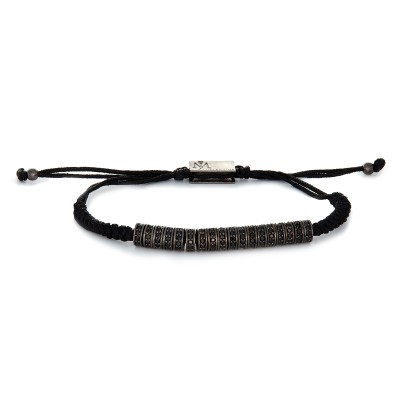 FULL MACRAME SEPERATORS GUN METAL