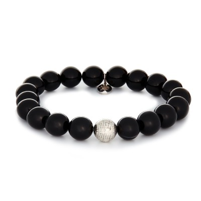 10MM POLISHED ONYX | 925 STERLING SILVER DESIGNED BALL