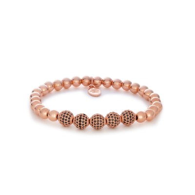 6MM ROSE GOLD BALLS |FIVE 925 STERLING SILVER SWAROVSKI BALL |