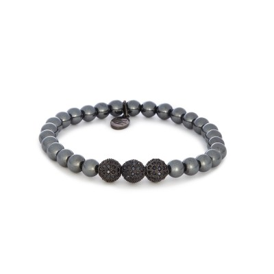 6MM GUN METAL SILVER BEADS | 925 STERLING SILVER GUN METAL SWAROVSKI BALLS